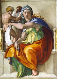 michelangelo buonarroti painted this depiction of the delphic sibyl in
