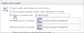 Reply with inline comments within the original message text - Outlook