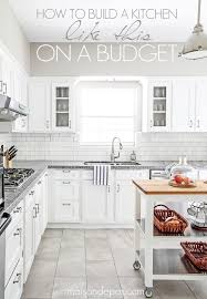 Kitchen Design With White Cabinets Classy Budgeting Tips For A Kitchen Renovation Blogger Home Projects We