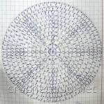 Схема для вязания крючком шапочки для новорожденных