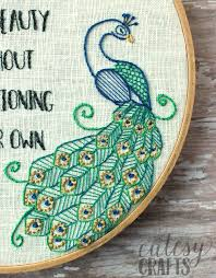 Peacock Beauty Quotes Best of Flamingo And Peacock Free Embroidery Pattern The Polka Dot Chair