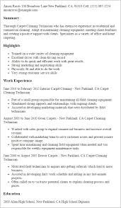 Carpet Cleaning Resume Greenscroll Extraordinary Cleaner Resume