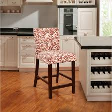 Patterned Bar Stools Unique Linon Home Decor Morocco Lava 48 In Red Cushioned Bar Stool