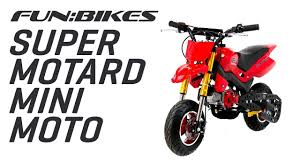 funbikes super motard 50cc 48cm red mini moto bike youtube