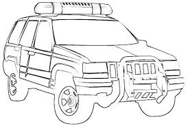 Police Car Coloring Pages Cars Lightning About Free Police Car
