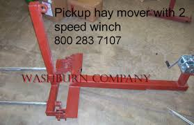 2 Spear Pickup Truck Hand Winch Hay Bale Mover, 48