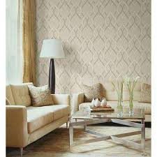 frequency beige ogee wallpaper