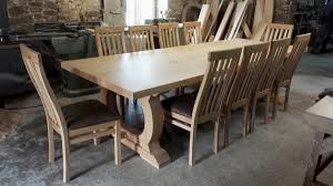 Large Oak Dining Tables Bespoke Dining Tables Handmade To Order
