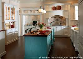 white country cottage kitchen. Cottage Beach Kitchen With Aqua Turquoise Island White Country K