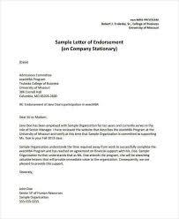 16 Sample Endorsement Letter Samples Templates Pdf Doc