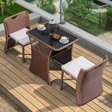 chair wicker chair three piece outdoor