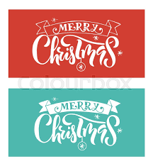 Merry Christmas Banner Print Hand Sketched Merry Christmas Logotype Badge Icon Typography