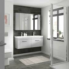 white gloss bathroom fitted furniture