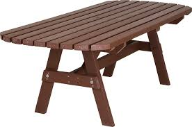 attractive plastic garden tables heavy duty no maintenance recycled furniture collection gunby oblong bench w home design
