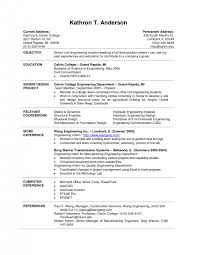 resume resume sample college student sample of a college resume