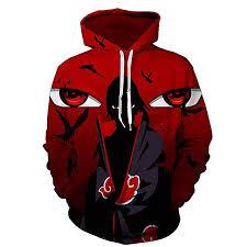 CHENMA Men Naruto 3D Print Pullover Hoodie ... - Amazon.com