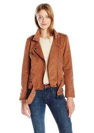 calvin klein jeans women s soft suede biker jacket