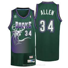 Camisetas Verde Milwaukee Ray Baratas Venta Bucks Allen