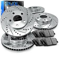 Details About For Hyundai Genesis Coupe Front Rear Drill Slot Brake Rotors Ceramic Brake Pads
