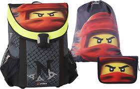 LEGO Bags Easy Ninjago Kai School Bag Set 3 Pieces Satchel Only 790 g School  Bag Set with Lego Motif, Book Bag Approx. 39 x 29 x 22 cm, 25 litres,  satchel