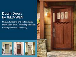 with jeld wen there are endless ways to customize your dutch doors dutch doors have many variables that can be manipulated to change the entire look and