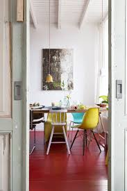 a home with red floors with surprising results