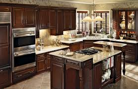 Cherry Kitchen in Burnished Cabernet With Classic Camed Glass