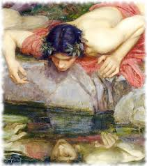 in love his own reflection the story of narcissus and echo  narcissus looking at his reflection mythology