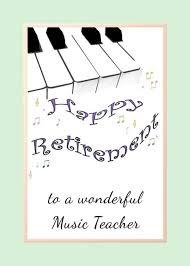 Congratulations To Music Teacher On Retirement Piano Keys