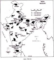 wildlife in biosphere reserves and conservation map wild life