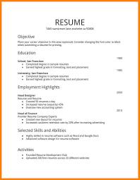 10 Plain Text Format Resume Address Example