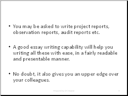 how to write good essays presentation english language sliderbase you be asked to write project reports observation reports audit reports etc