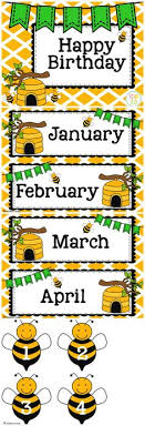Bee Themed Birthday Chart 35 Best The Bee Classroom Images Bee Bee Theme Classroom