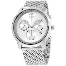 bold men s watch chronograph bold stainless steel 3600371 men s movado men s swiss chronograph bold stainless steel mesh bracelet watch 3600371