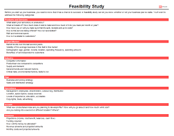 Technical Offer Sample Feasibility Study Templates For Word Excel Business