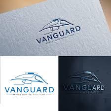 Creative Lighting Solutions Llc Professional Masculine Logo Design For Vanguard Mobile