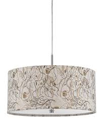 full size of light simple white fabric drum chandelier with artistic fl motif interior light blue