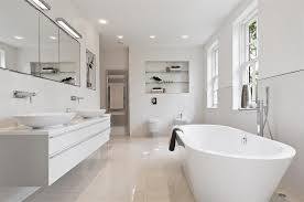 bathroom modern white. White Modern Bathrooms Contemporary Bathroom