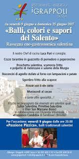 Albergo Sapori Balli Colori E Sapori Del Salento Hotel I Grappoli Sessa