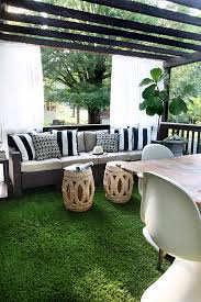 adding artificial grass to the deck