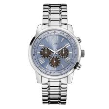 w0379g6 guess horizon blue and silver stainless steel mens watch guess w0379g6 horizon blue silver stainless steel mens watch