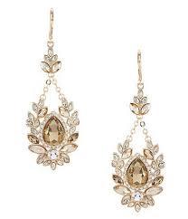 gemma layne fancy tear stone drop statement earrings