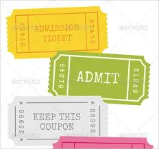 Admission Ticket Template Free Download 81 Ticket Templates Free Download