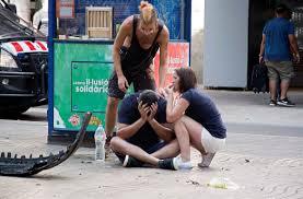 Resultado de imagem para fotos ou imagens do atentado nas Ramblas