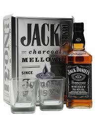 jack daniel s old no 7 metal box 2 gles gift set