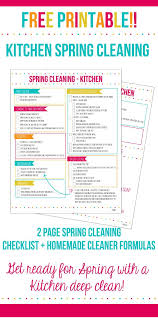 cleaning checklist kitchen spring cleaning checklist home made interest