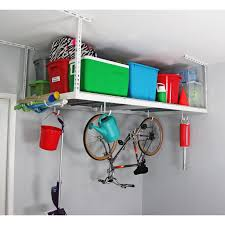 Overhead Storage Bedroom Furniture White 4x8 Overhead Garage Storage Shelves With Bicycle Hook