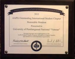 Honorable Mention Certificate Honorable Mention For Asia Pacific Student Chapters