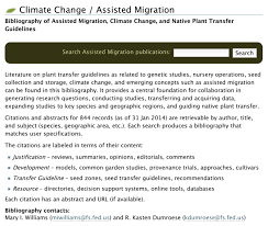 assisted migration assisted colonization managed relocation assisted migration assisted colonization managed relocation translocation and rewilding of plants and animals in an era of rapid climate change