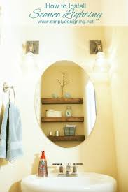 how to install sconce lighting sharing how we removed a light bar and